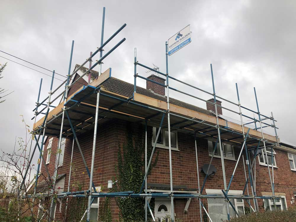 roof being repair in saffron walden
