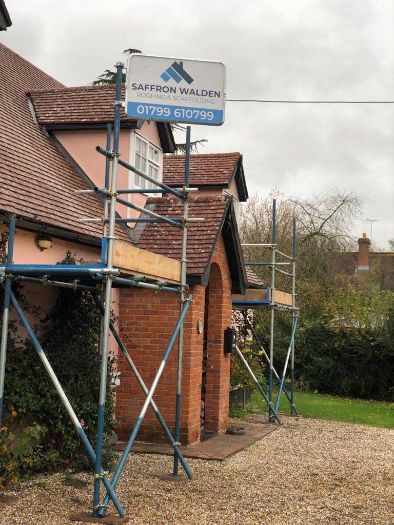 Front of a tiled Saffron Walden roofing roof repair